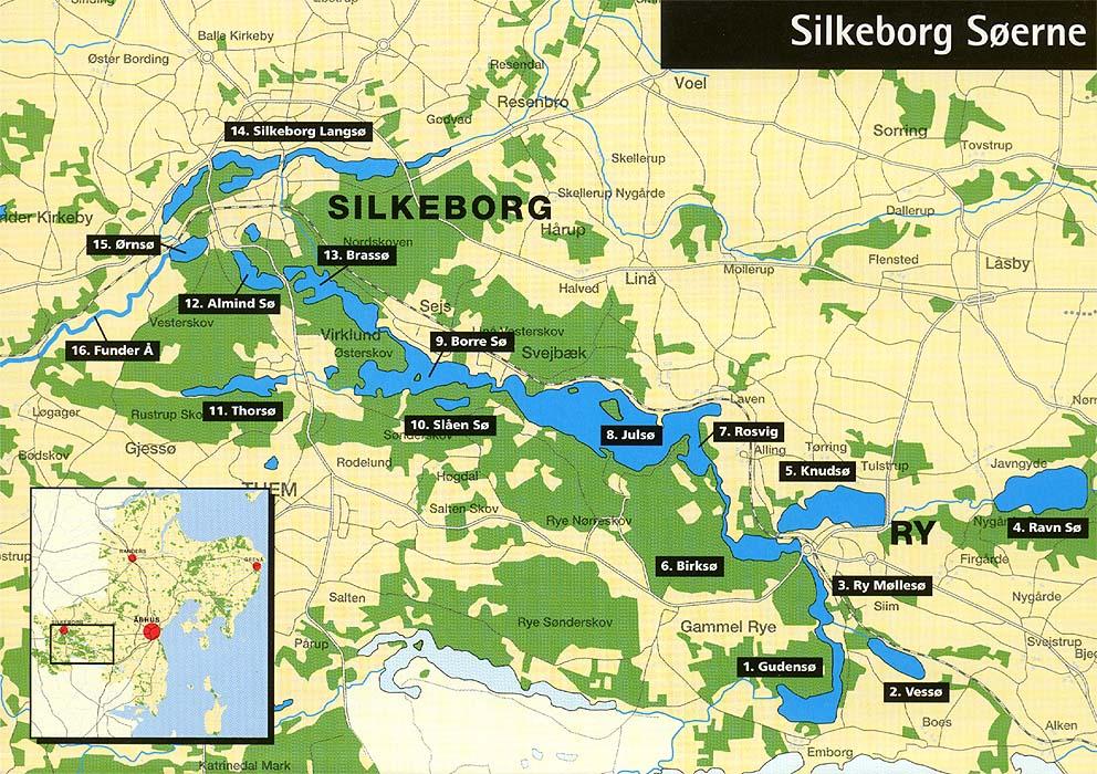 Kort Silkeborg Soerne